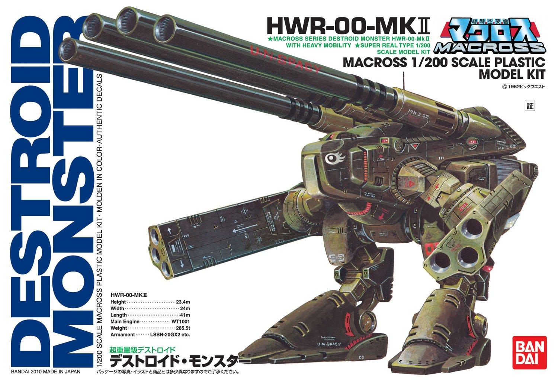 超時空要塞マクロス『超重量級デストロイド モンスター』1/200 プラモデル-011