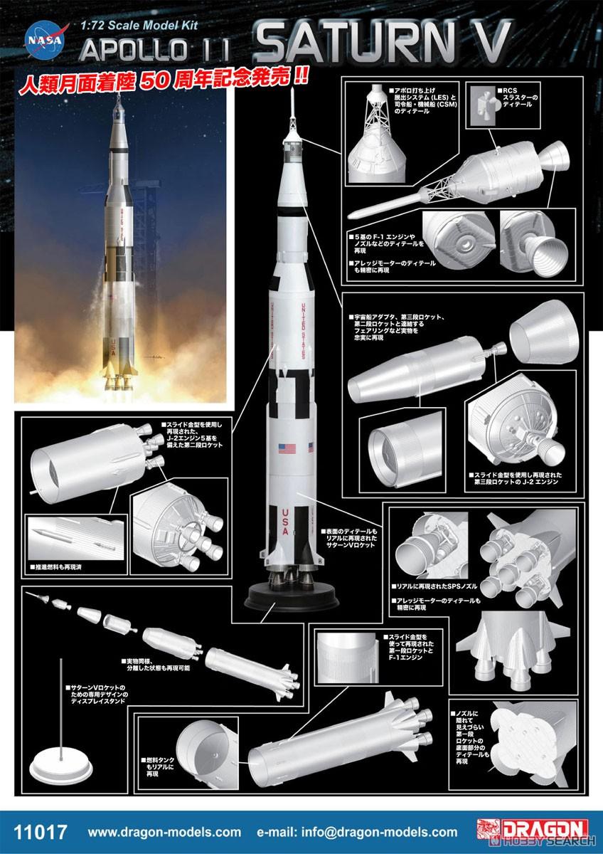 【再販】1/72『アポロ11号 サターンV型ロケット』プラモデル-003