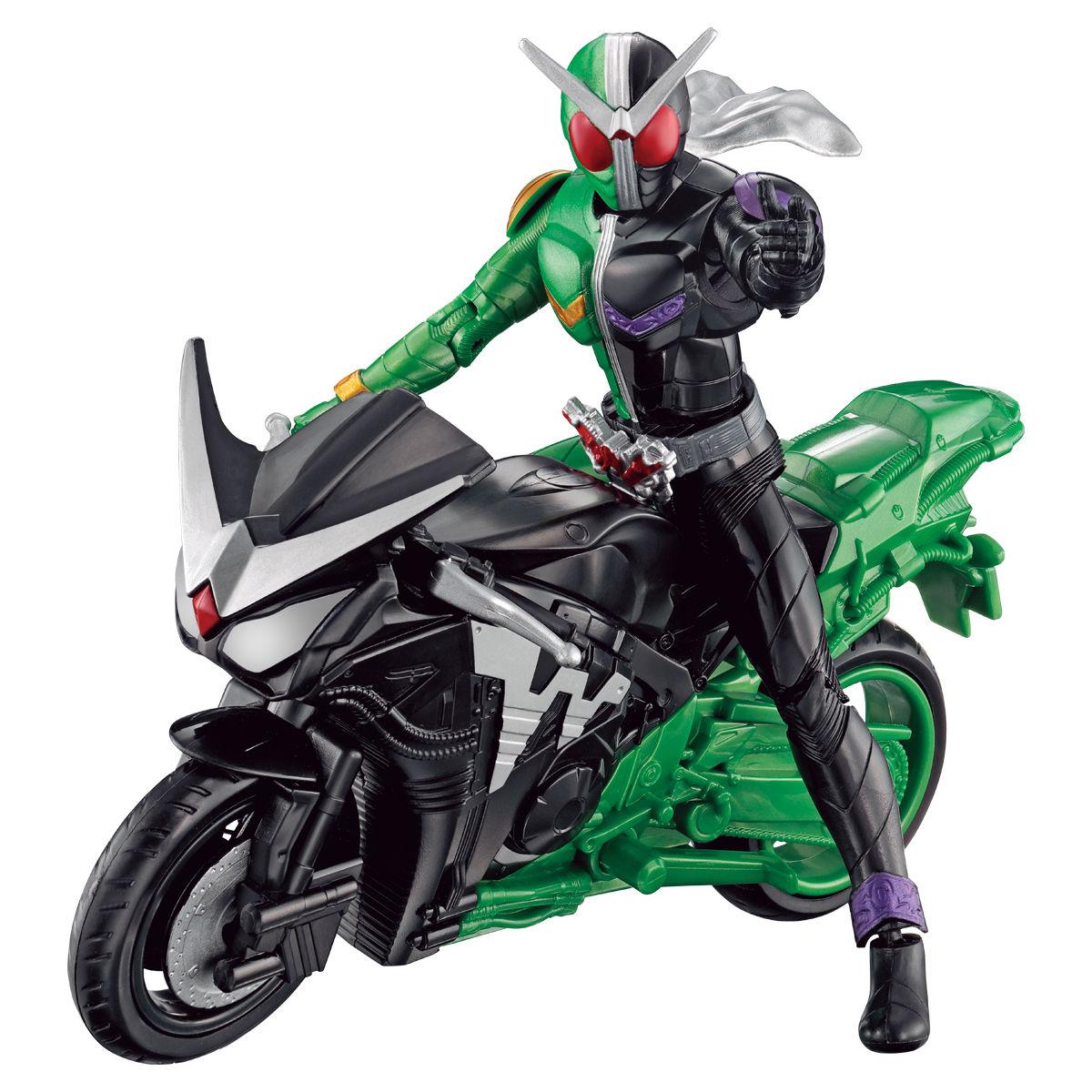 RKFレジェンドライダーシリーズ『仮面ライダーダブル サイクロンジョーカー&ハードボイルダー』可動フィギュア-001