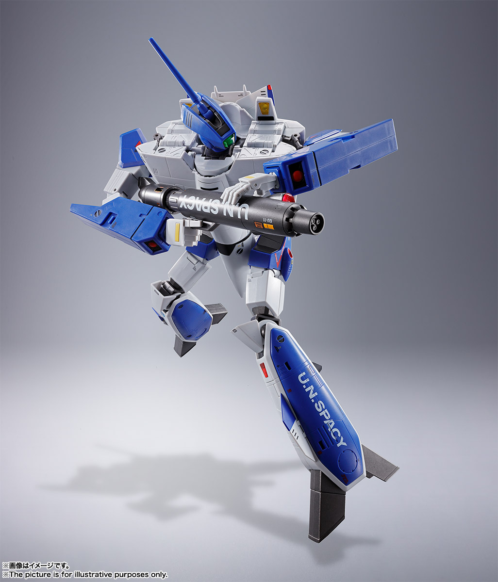 DX超合金『VF-1A バルキリー(マクシミリアン・ジーナス機)』超時空要塞マクロス 可変可動フィギュア-012