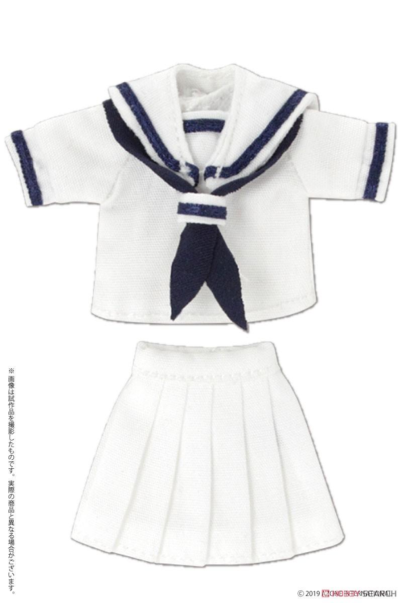 ピコニーモサイズ コスチューム『半袖セーラー服セットII ネイビー×レッド』ドール服-005
