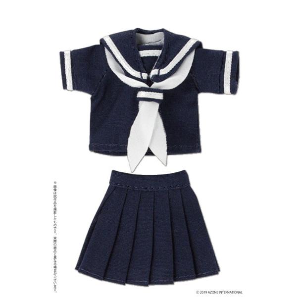 ピコニーモサイズ コスチューム『半袖セーラー服セットII ネイビー×ホワイト』ドール服