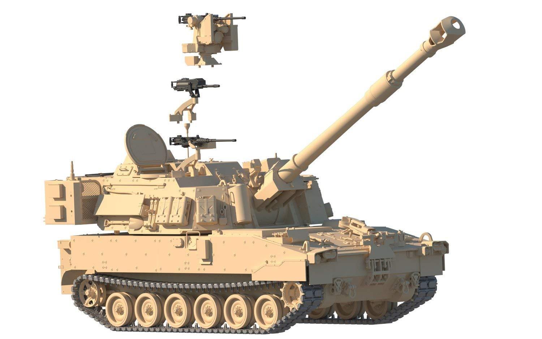 1/35『M109A7 自走榴弾砲w/金属履帯 &フィギュア1体』プラモデル-007