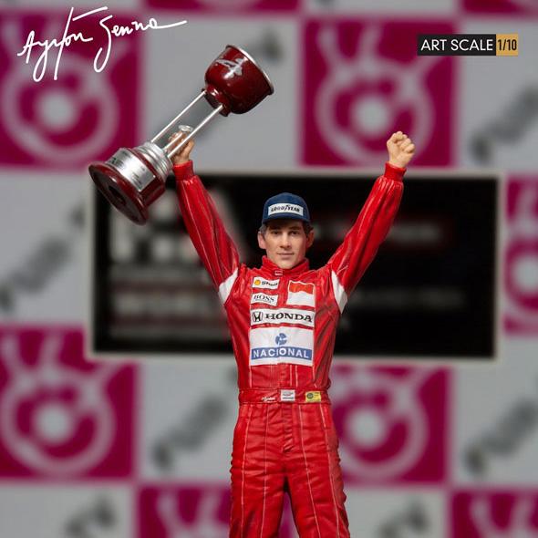 『アイルトン・セナ 1988 日本GP』1/10 アートスケール スタチュー