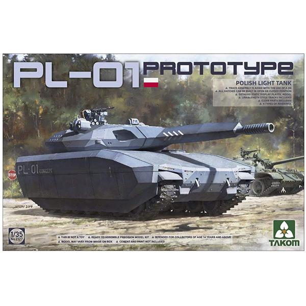 1/35『ポーランド軍 PL-01 試作軽戦車 ステルスタンク』プラモデル