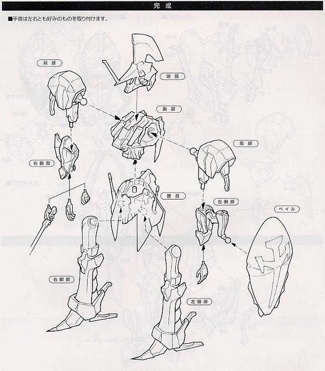 【再販】ファイブスター物語『レッドミラージュ(L.E.D. MIRAGE)』1/144 プラモデル-018