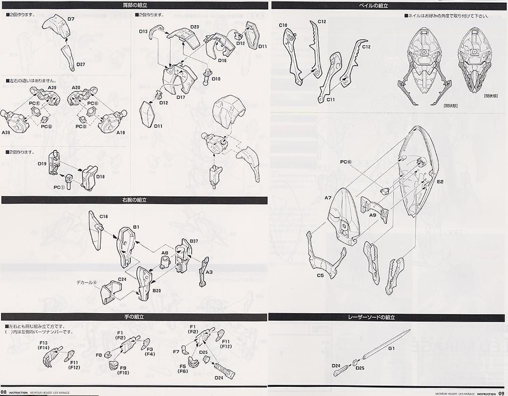 【再販】ファイブスター物語『レッドミラージュ 先行量産型2989(コーラス戦仕様)』1/144 プラモデル-011