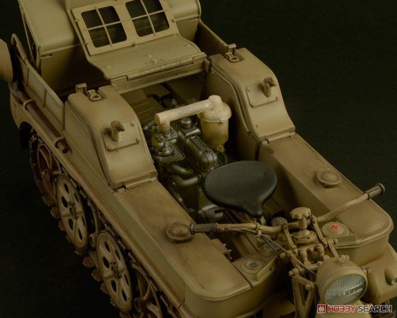【再販】1/9『WW.II ドイツ軍 ケッテンクラート』プラモデル-008