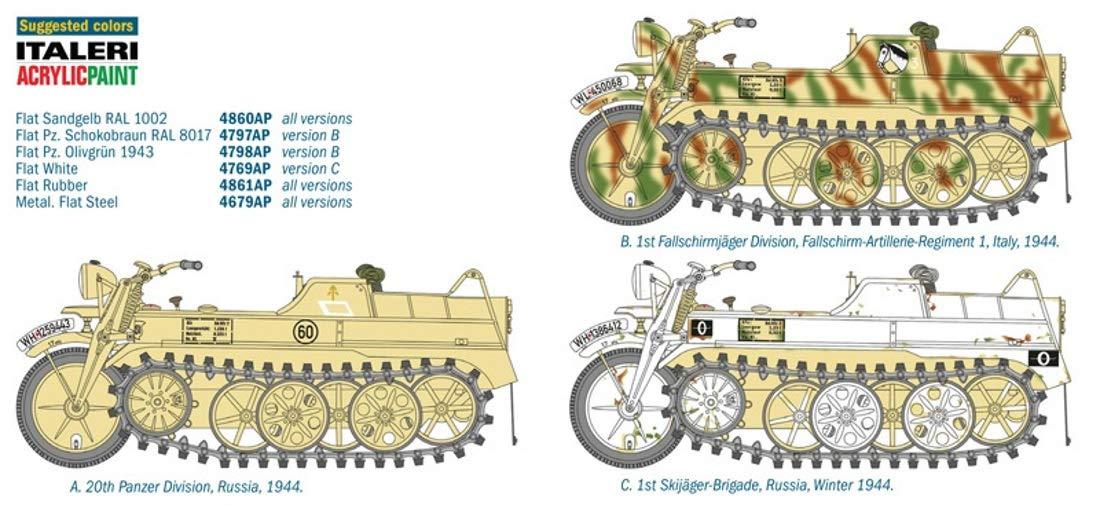 【再販】1/9『WW.II ドイツ軍 ケッテンクラート』プラモデル-021