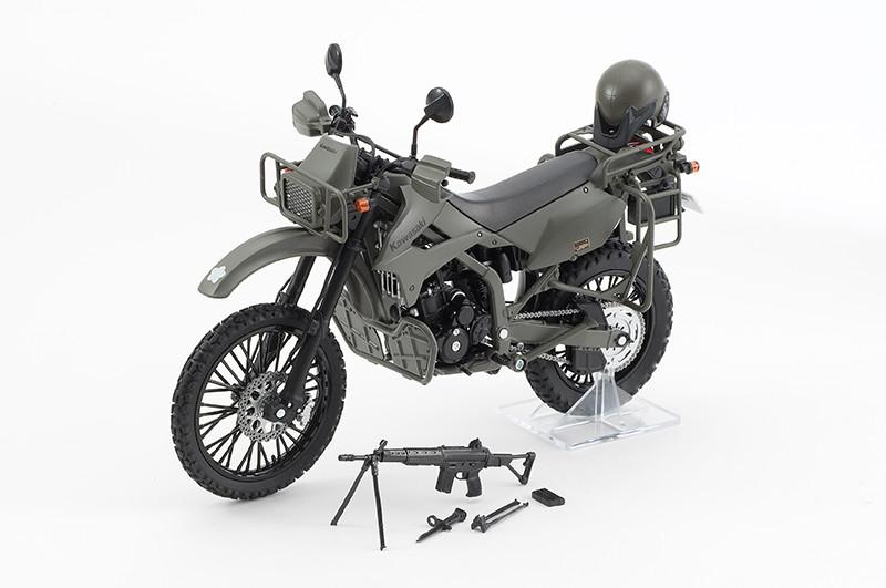【再販】リトルアーモリー LM002『陸上自衛隊偵察オートバイ DX版』1/12 ミニカー-001