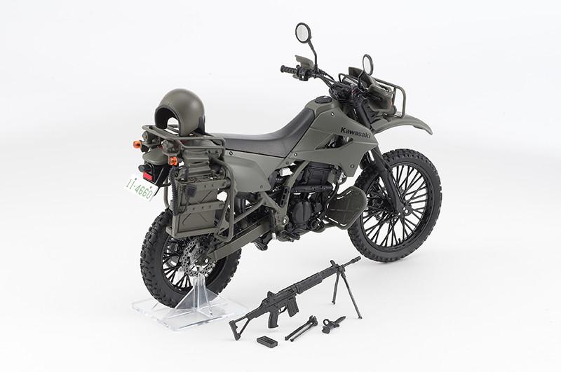 【再販】リトルアーモリー LM002『陸上自衛隊偵察オートバイ DX版』1/12 ミニカー-002