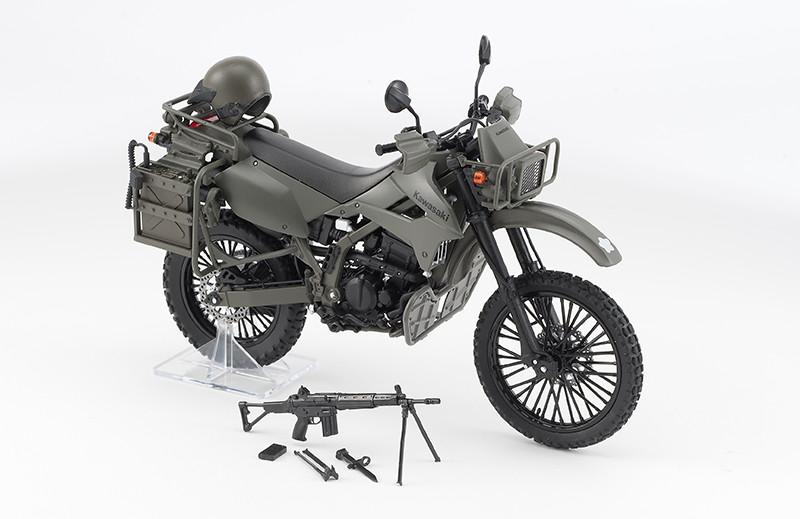 【再販】リトルアーモリー LM002『陸上自衛隊偵察オートバイ DX版』1/12 ミニカー-003