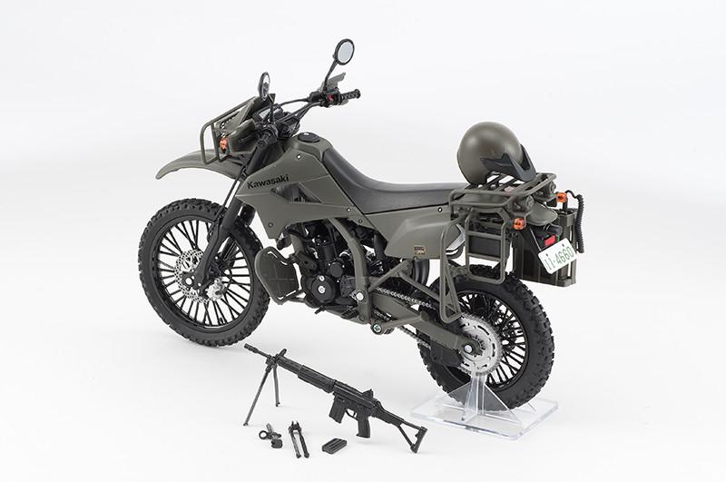 【再販】リトルアーモリー LM002『陸上自衛隊偵察オートバイ DX版』1/12 ミニカー-004