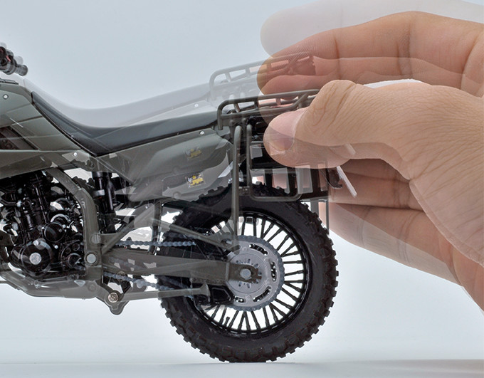 【再販】リトルアーモリー LM002『陸上自衛隊偵察オートバイ DX版』1/12 ミニカー-018