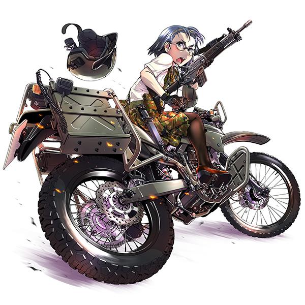 【再販】リトルアーモリー LM002『陸上自衛隊偵察オートバイ DX版』1/12 ミニカー-019
