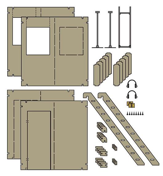 リトルアーモリー LD023『シュートハウスA』1/12 プラモデル-005