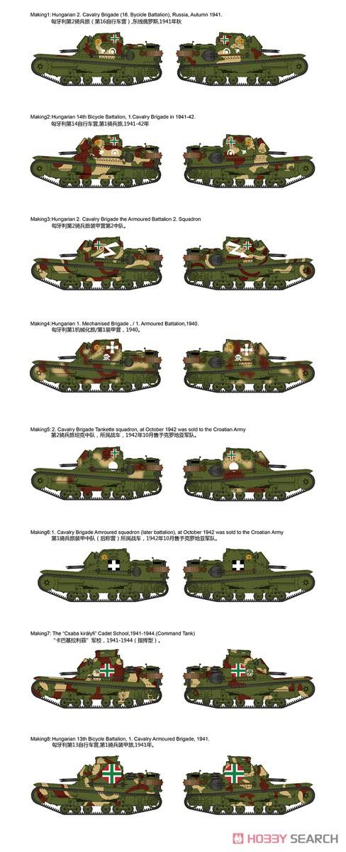 1/35『ハンガリー・CV-35.Mアンシャルド豆戦車&CV-35指揮型』プラモデル-008