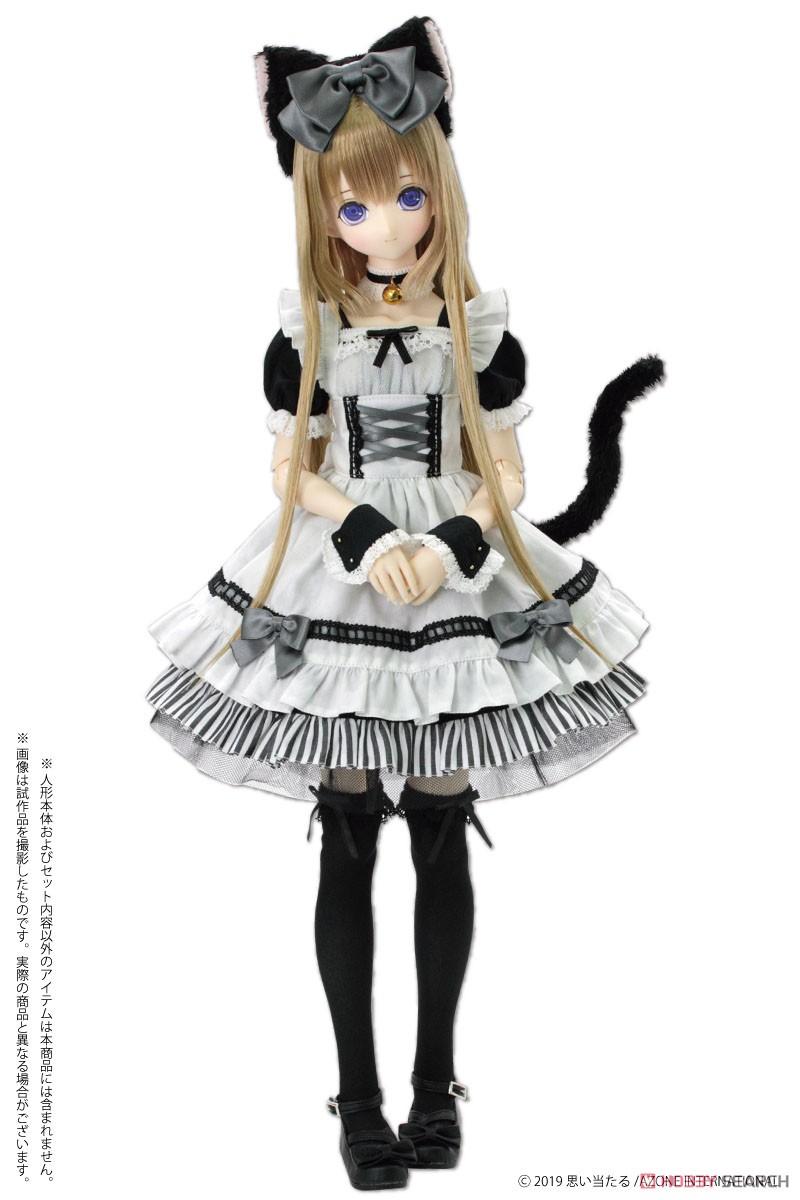50cmコレクション『月夜のいたずら猫メイドセット ボルドー×ディープグレー』1/3 ドール服-004