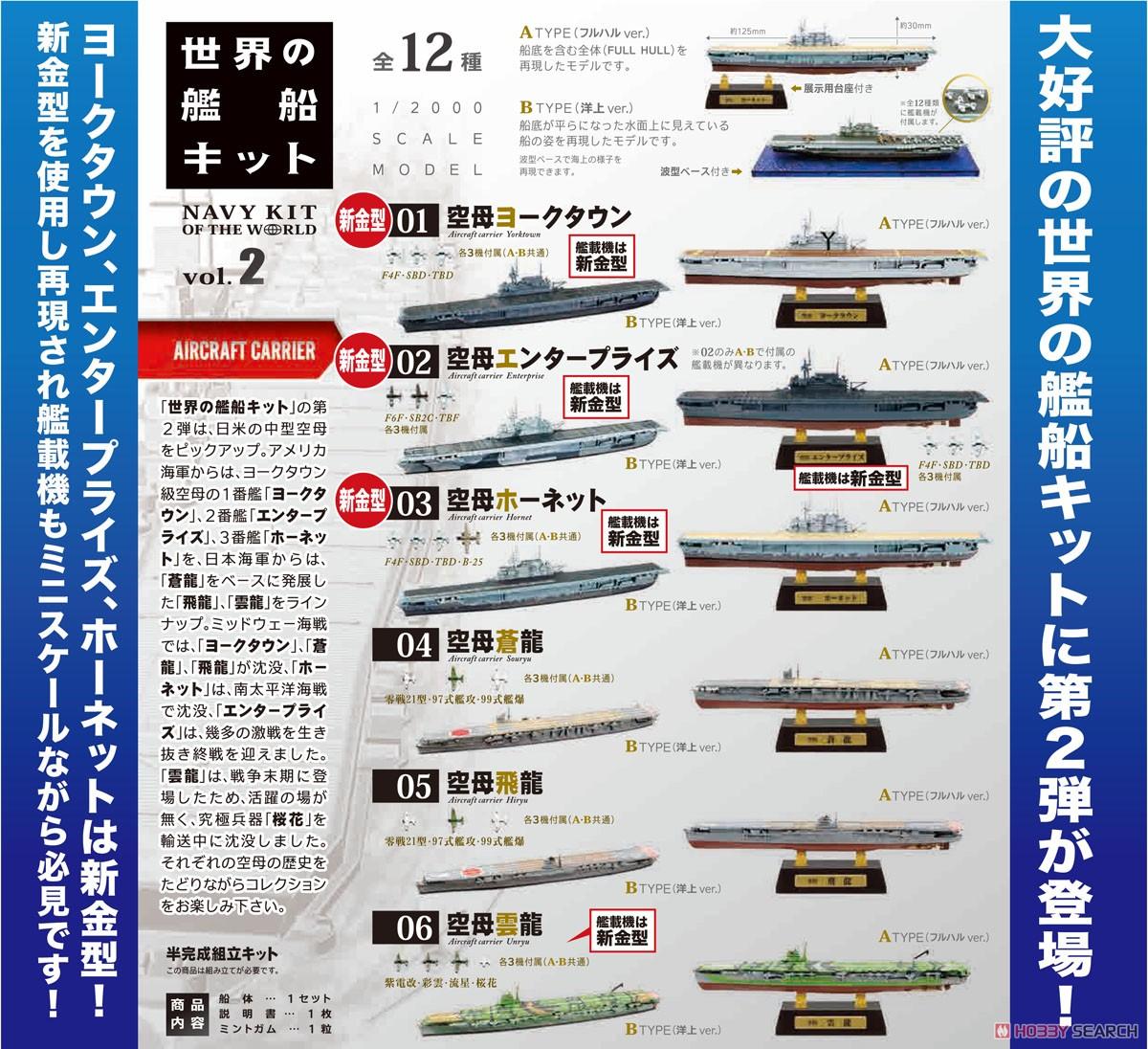 【食玩】1/2000『世界の艦船キット vol.2』プラモデル 10個入りBOX-017