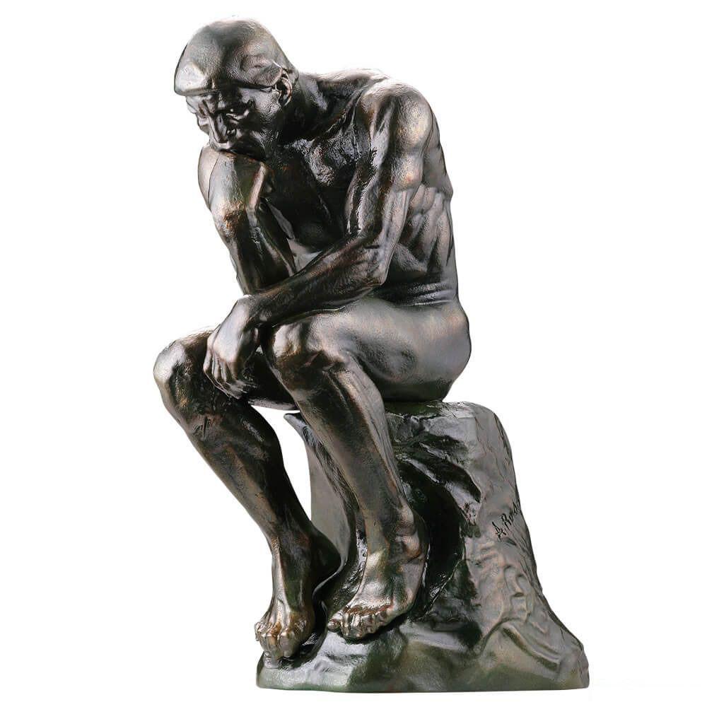 海洋堂美術作品立体図鑑『考える人』完成品フィギュア-001