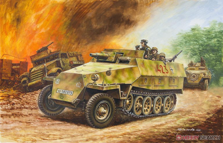 1/35『Sd.Kfz.251/9 Ausf.D 7.5cm戦車砲搭載火力支援車 前期型』プラモデル-002