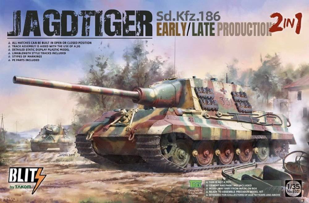 1/35『ヤークトティーガー Sd.Kfz.186 前/後期型 2 in 1』プラモデル-001