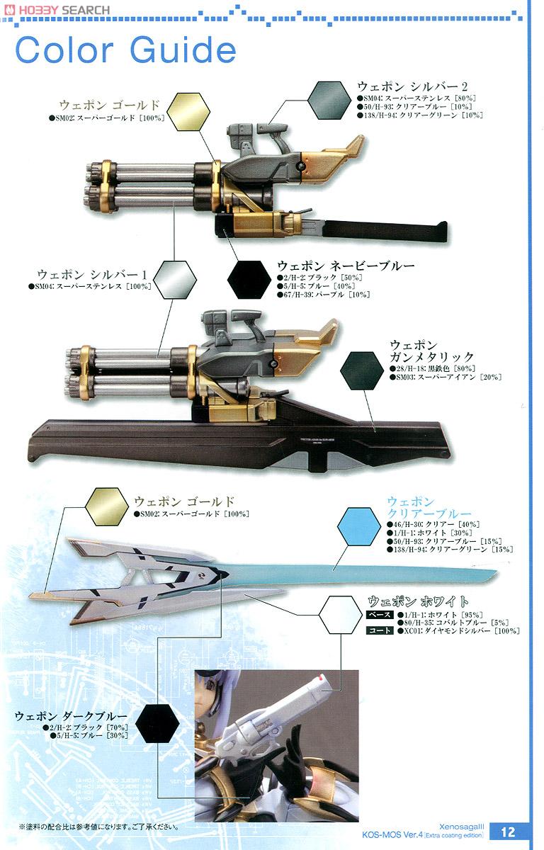 【再販】ゼノサーガIII『KOS-MOS(コスモス)Ver.4 エクストラコーティングエディション』1/12 プラモデル-030