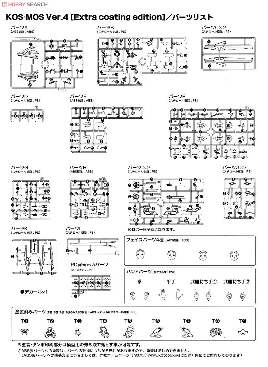 【再販】ゼノサーガIII『KOS-MOS(コスモス)Ver.4 エクストラコーティングエディション』1/12 プラモデル-038