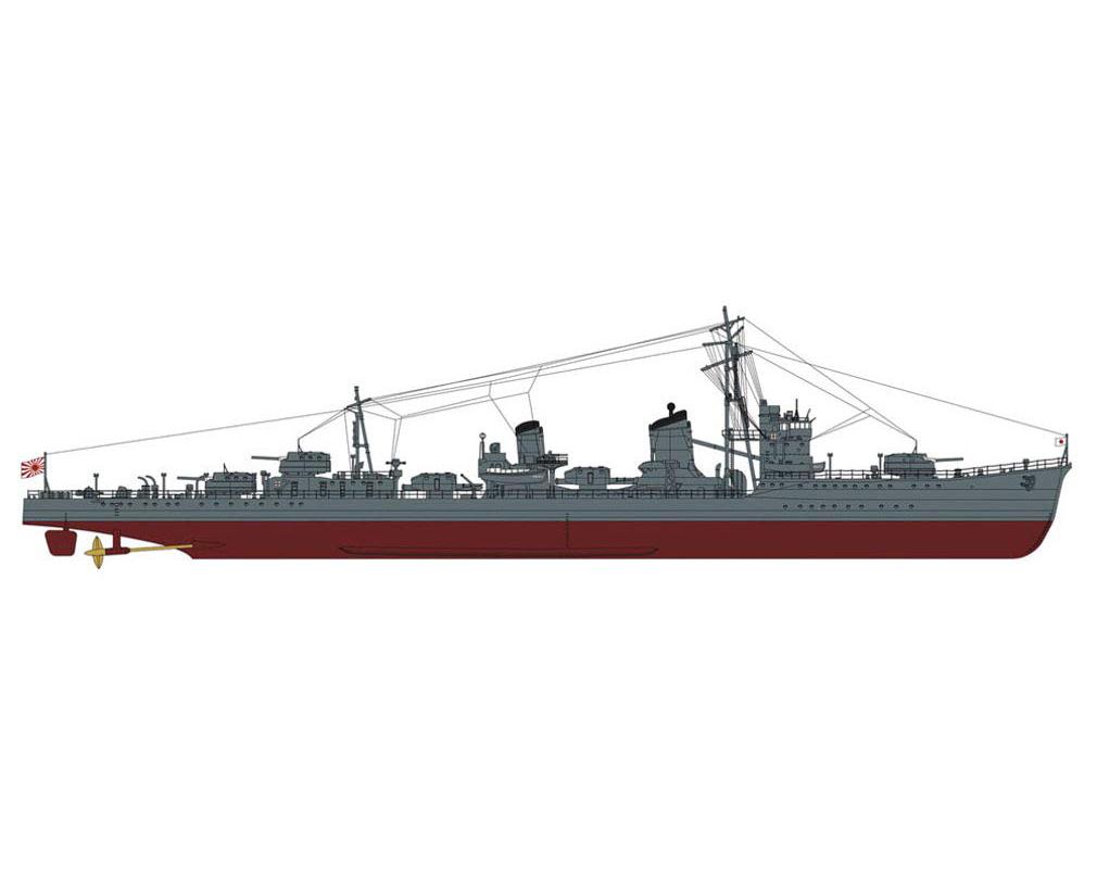 """1/350『日本海軍 甲型駆逐艦 浜風""""ミッドウェー海戦 スーパーディテール""""』プラモデル-001"""