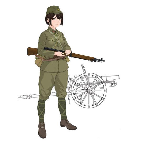 歴装ヲトメ『木乃花(このか)w/四一式山砲』1/35 プラモデル