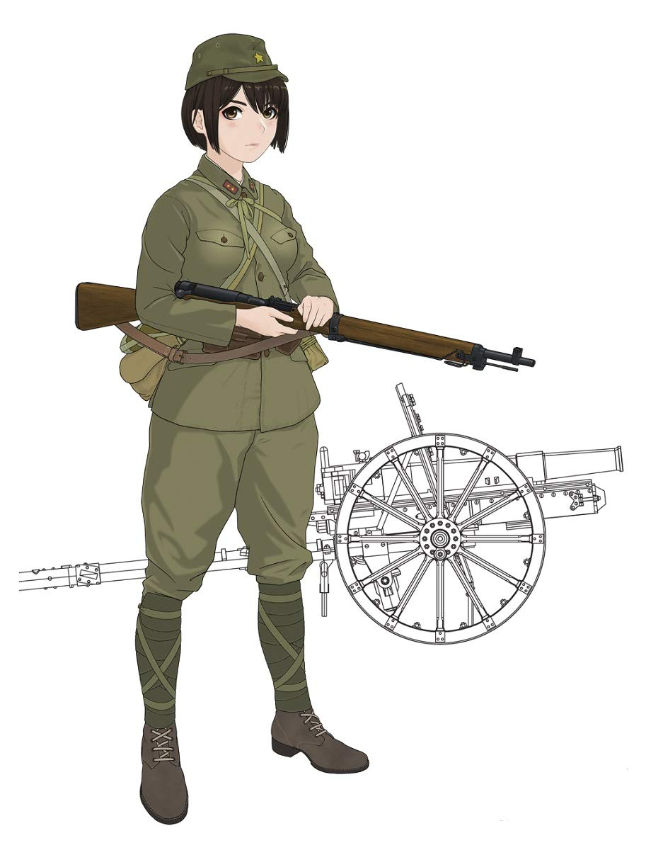歴装ヲトメ『木乃花(このか)w/四一式山砲』1/35 プラモデル-001