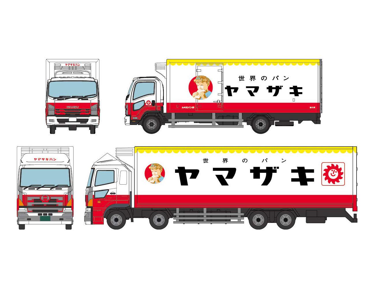 ザ・トラックコレクション『ヤマザキパン トラックセット』ミニカー-001