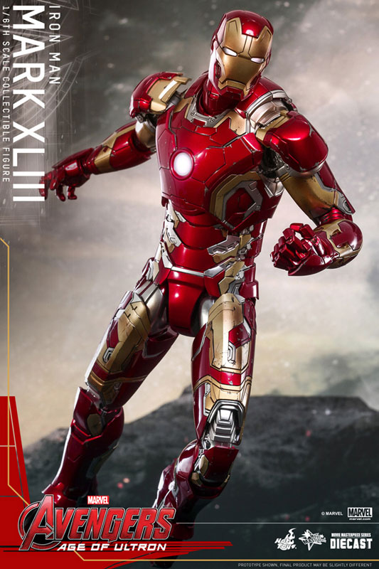 【再販】ムービー・マスターピース DIECAST『アイアンマン・マーク43』1/6 アベンジャーズ 可動フィギュア-006