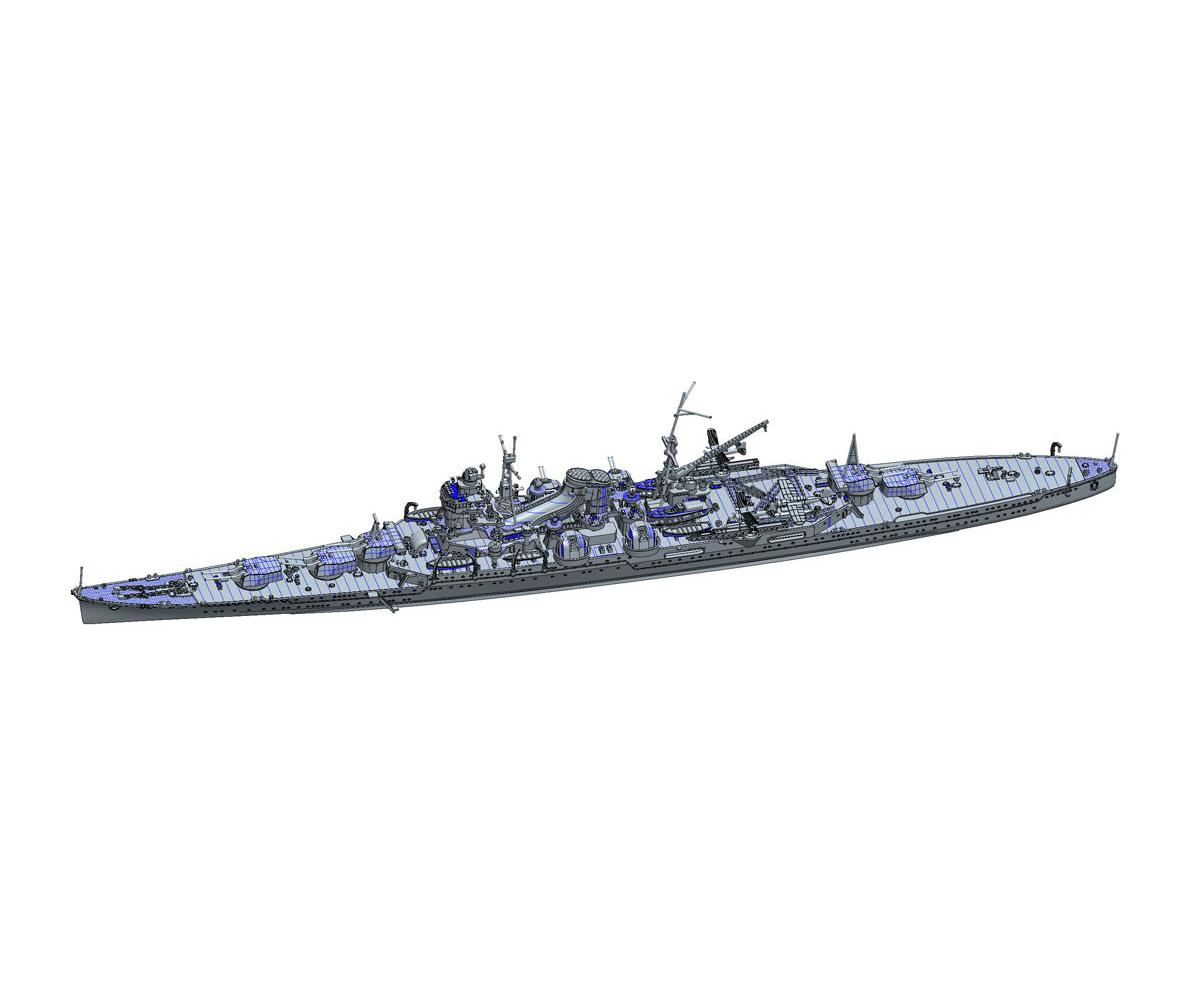 1/700 特シリーズ No.69『日本海軍重巡洋艦 最上(昭和17年)』プラモデル-002