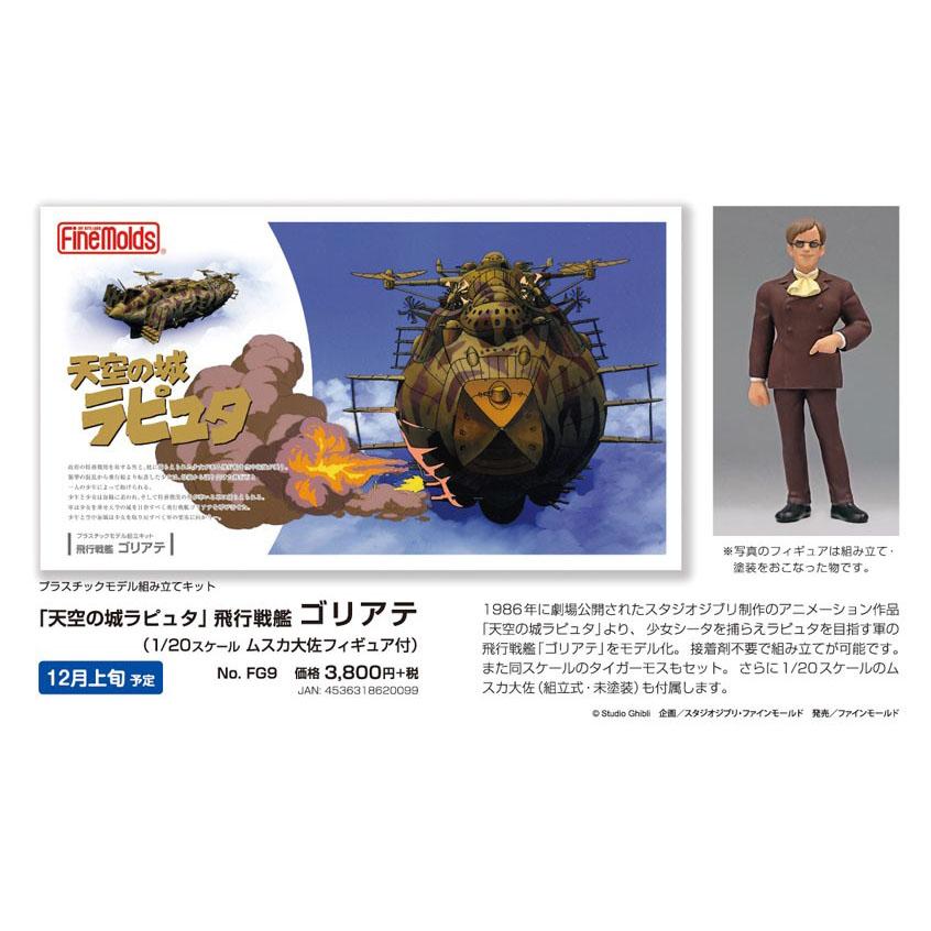 天空の城ラピュタ『飛行戦艦 ゴリアテ』プラモデル-003