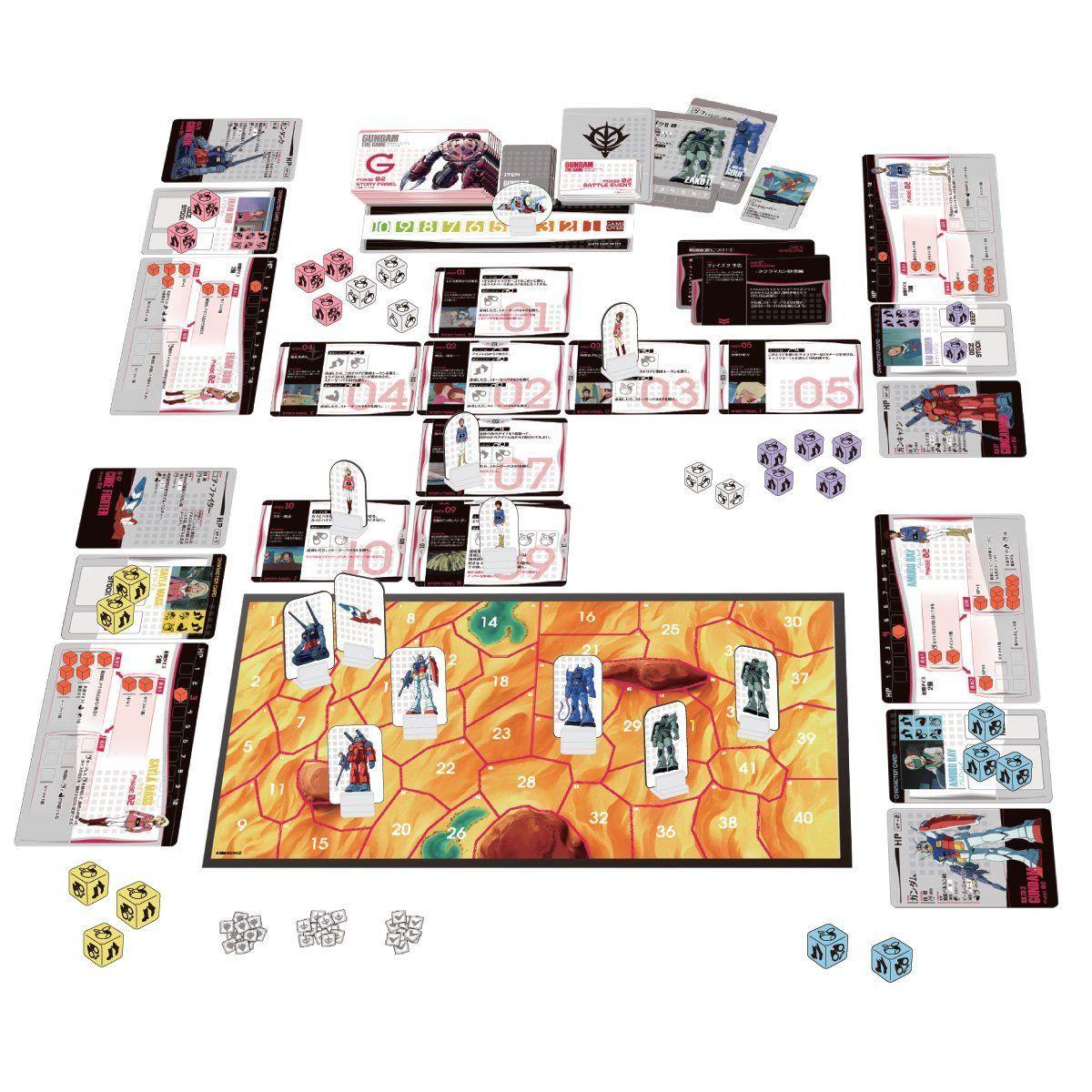 GUNDAM THE GAME『機動戦士ガンダム:哀・戦士編』ボードゲーム-001