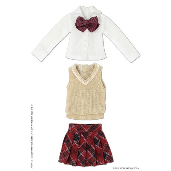 ピコニーモサイズ コスチューム『アフタースクールセット(キャメル×レッド)』1/12 ドール服