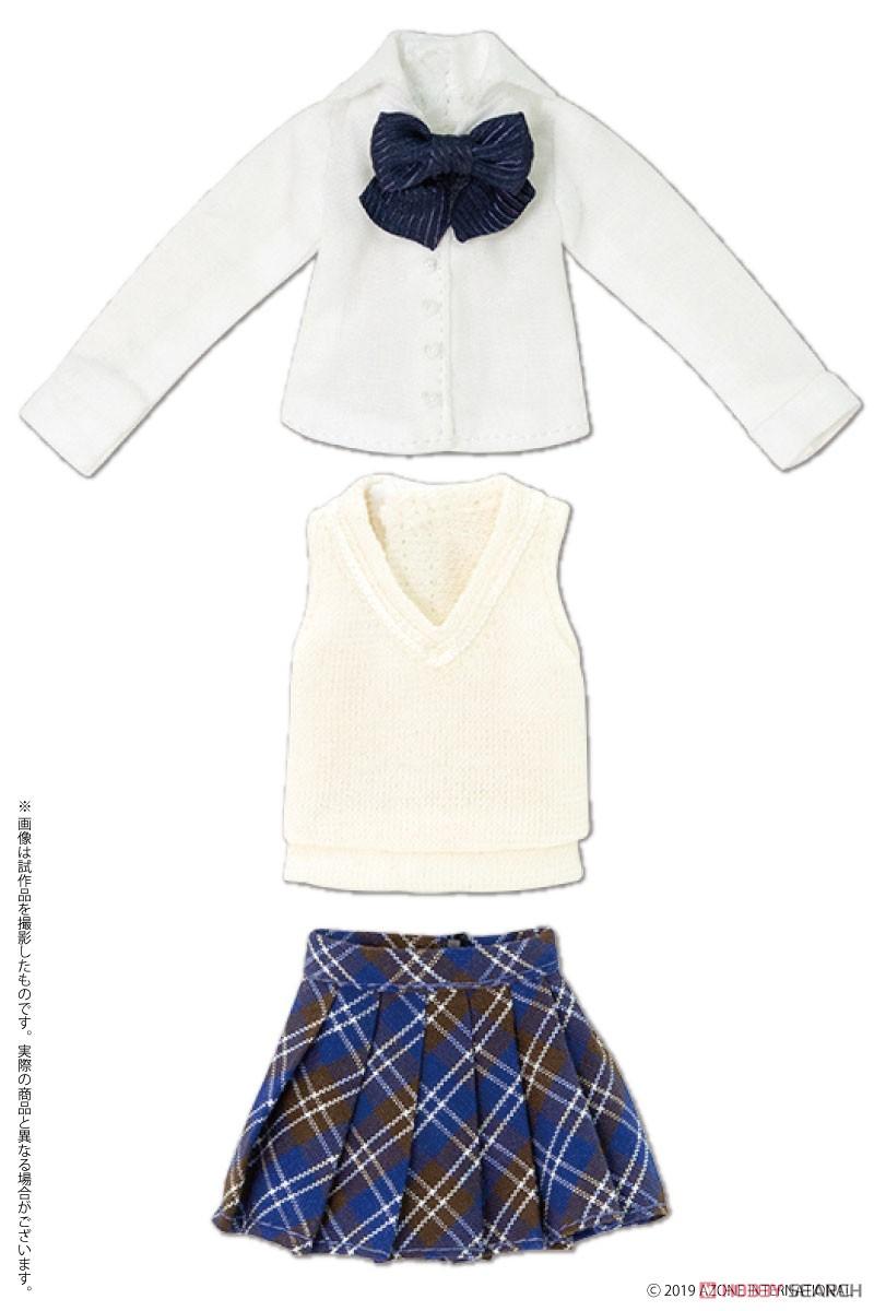 ピコニーモサイズ コスチューム『アフタースクールセット(キャメル×レッド)』1/12 ドール服-003