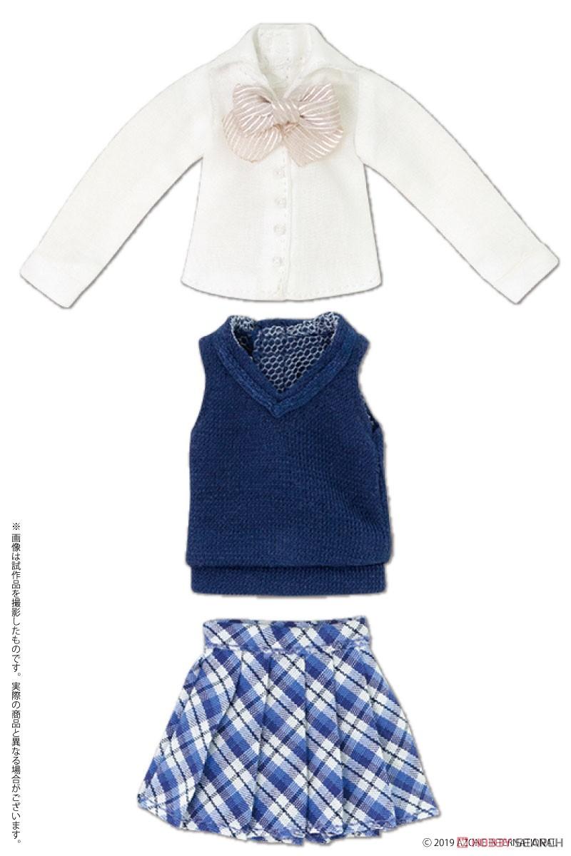 ピコニーモサイズ コスチューム『アフタースクールセット(キャメル×レッド)』1/12 ドール服-007