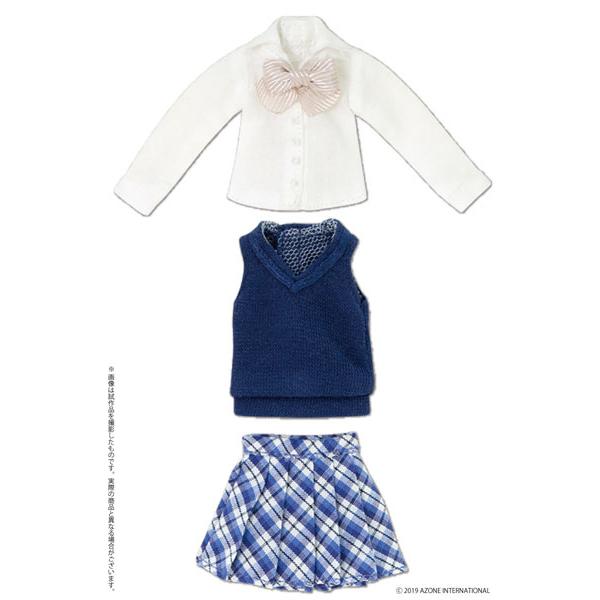 ピコニーモサイズ コスチューム『アフタースクールセット(ネイビー×ピンク)』1/12 ドール服