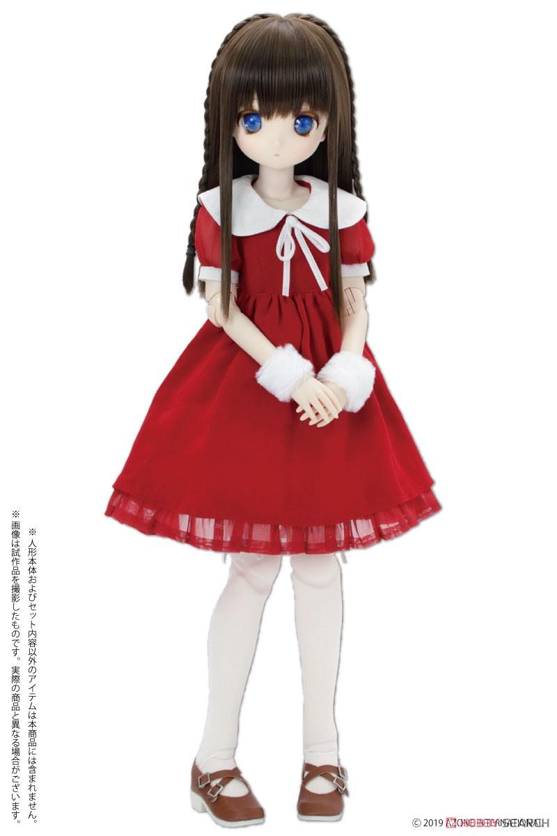 45cmコレクション『うさみみサンタセット レッド』1/3 ドール服-003
