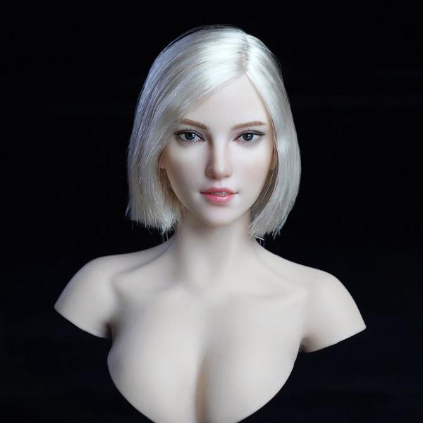 『女性ヘッド 018 A』1/6 ドール素体ヘッド