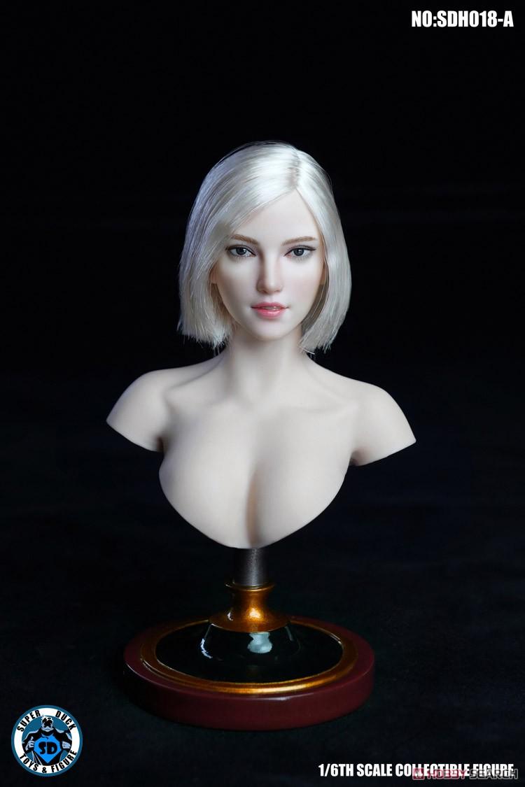 『女性ヘッド 018 A』1/6 ドール素体ヘッド-001