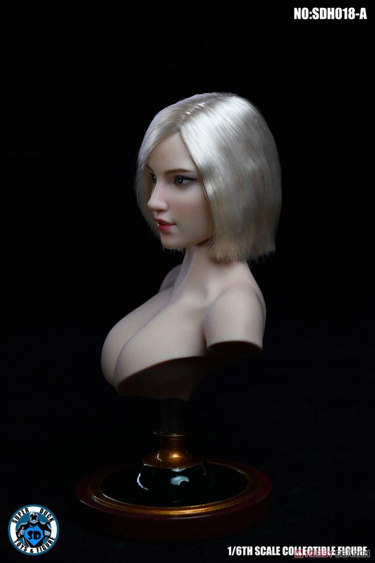 『女性ヘッド 018 A』1/6 ドール素体ヘッド-004