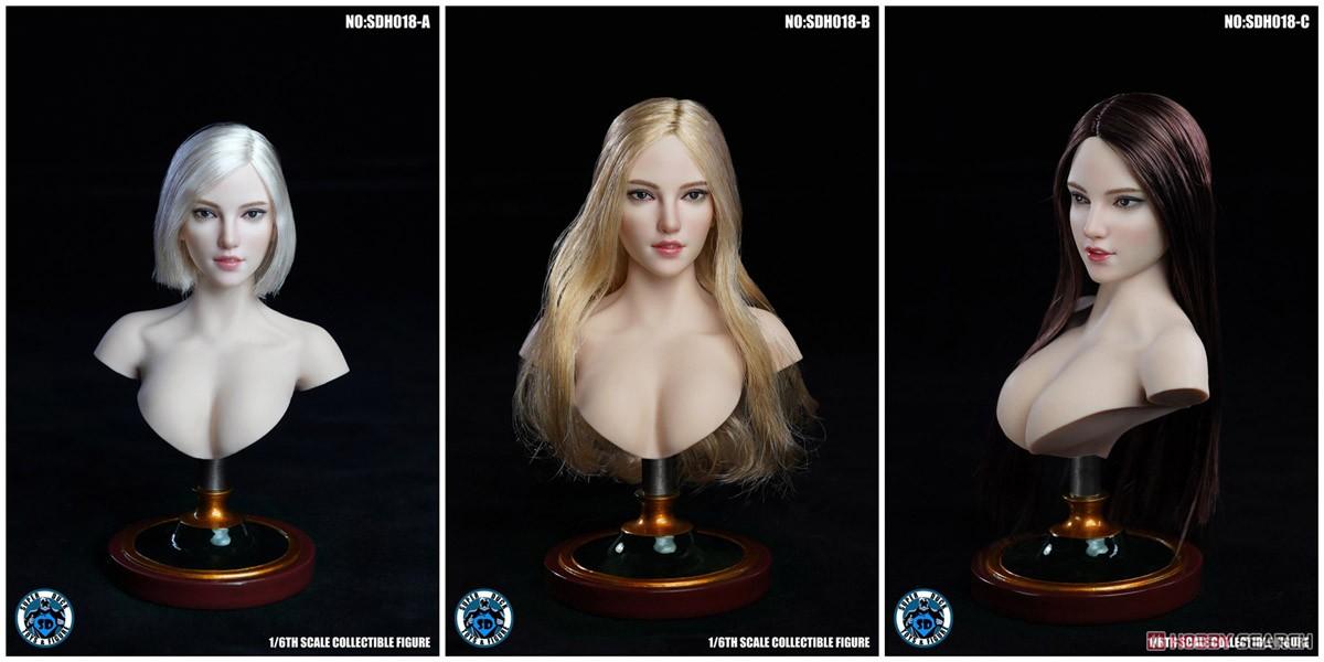 『女性ヘッド 018 A』1/6 ドール素体ヘッド-005