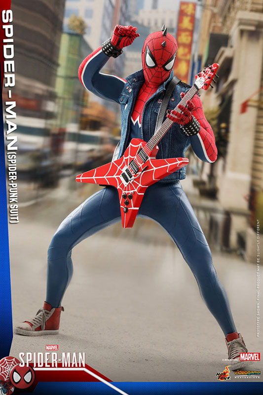 ビデオゲーム マスターピース『スパイダーマン スパイダーパンクスーツ』可動フィギュア-002