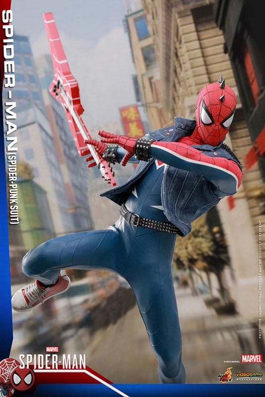 ビデオゲーム マスターピース『スパイダーマン スパイダーパンクスーツ』可動フィギュア-007