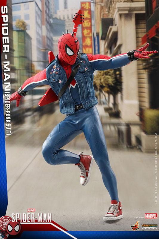 ビデオゲーム マスターピース『スパイダーマン スパイダーパンクスーツ』可動フィギュア-008