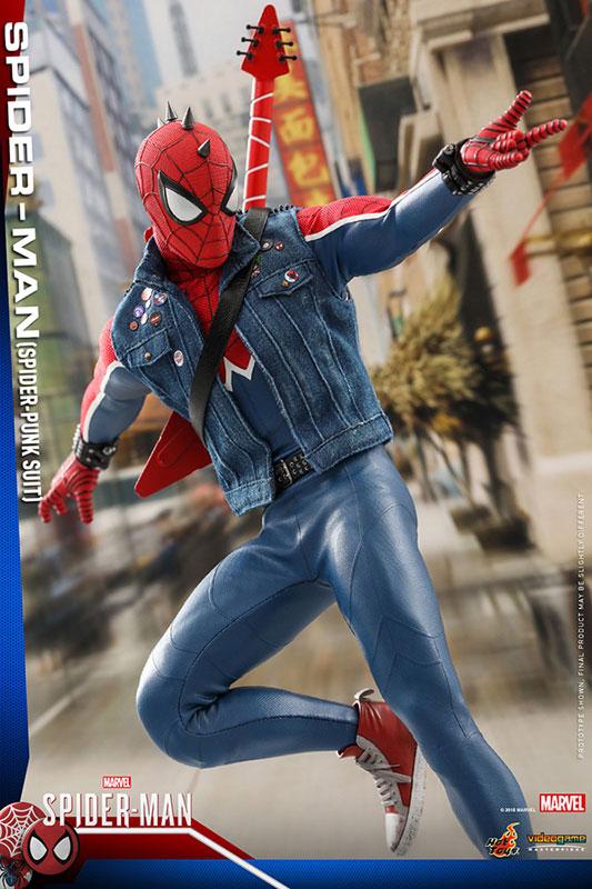 ビデオゲーム マスターピース『スパイダーマン スパイダーパンクスーツ』可動フィギュア-009