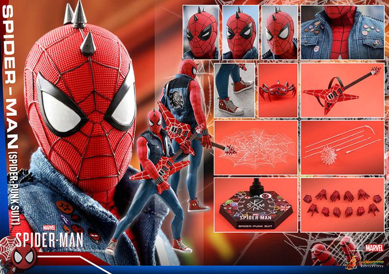 ビデオゲーム マスターピース『スパイダーマン スパイダーパンクスーツ』可動フィギュア-021